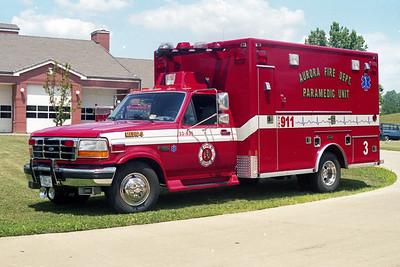 AURORA FD  MEDIC 3  1995  FORD F460 - E-ONE   #12373