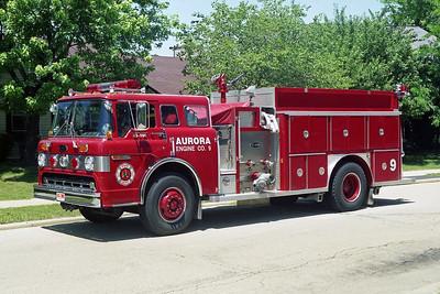 AURORA FD  ENGINE 9  1988  FORD C8000 - E-ONE   1250-1250   #5929     X- MARYWOOD FPD