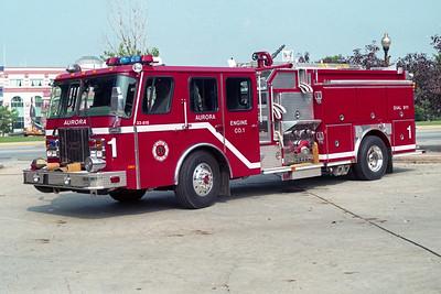 AURORA FD  ENGINE 1  1992  E-ONE CYCLONE   1500-750-50F   #9415