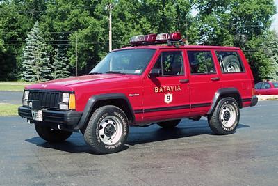 BATAVIA FD  CAR 9  1993  JEEP CHEROKEE
