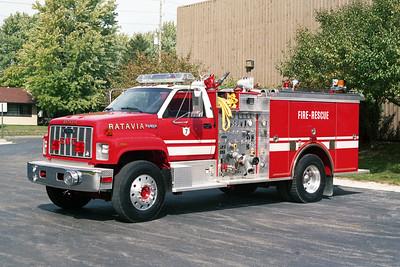 BATAVIA FD  SQUAD 7  1991  GMC TOPKICK - PIERCE   1000-500-30F   E-6325