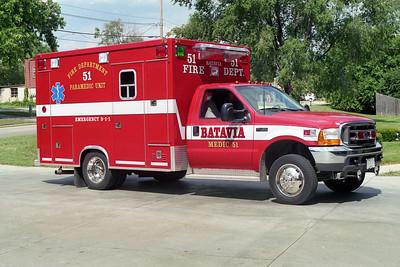 BATAVIA FD  MEDIC 51  1999  FORD F450 - TAYLOR MADE   PASSENGER SIDE