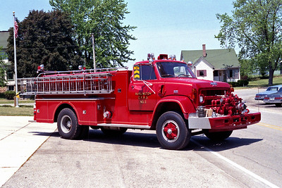 BURLINGTON COUNTRYSIDE FPD  ENGINE 1302  1972  CHEVY-HOWE   500-1000   #13545     FRONT MOUNT