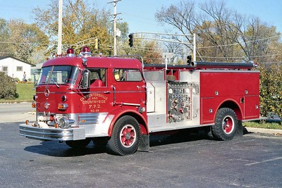 CARPENTERSVILLE  ENGINE 98  1967 MACK C95  - 1985 PIERCE  1000-500   C95F-1520   #F-0629