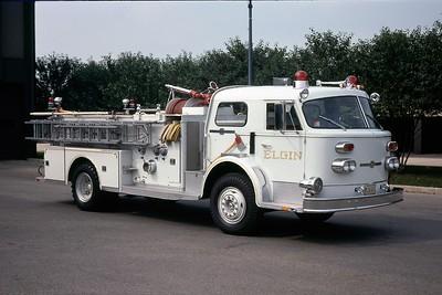 ELGIN FD   ENGINE 1  1970  ALFCO  1000-500  OFFICERS SIDE  WHITE