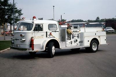 ELGIN FD   ENGINE 1  1970 ALFCO  1000-500   RON HEAL PHOTO  WHITE