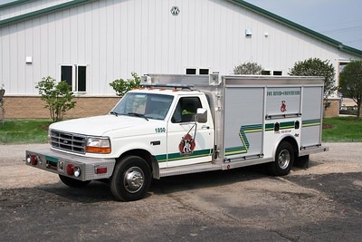 FOX RIVER & COUNTRYSIDE FPD  RESCUE 1850  1995 FORD F-450 - ALEXIS  X-ROCK ISLAND FD   BF