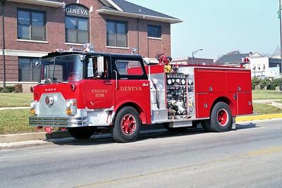 GENEVA FD  ENGINE 208   1970 MACK 1000-500  CF611F10-1340  1987 PIERCE REHAB   F-1340