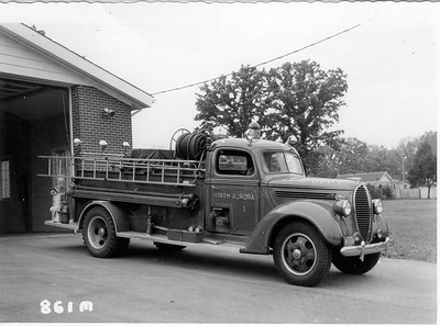 NORTH AURORA FPD ENG 1   1938 FORD-DARLEY  500GPM  SOLD TO COAL CITY FPD   JEFF SCHIELKE COLLECTION  BF