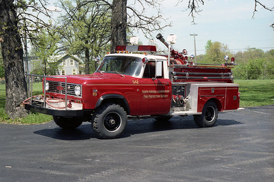 NORTH AURORA FPD ENG 512  1973 IHC-PIERCE 350-300  NOW AT MILLBROOK FPD  BF