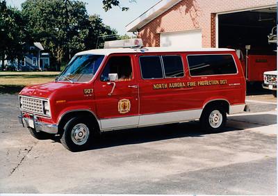 NORTH AURORA FPD  CAR 507  1987 FORD VAN   JEFF SCHIELKE COLLECTION  BF