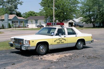RUTLAND DUNDEE  CAR 50  1982 FORD LTD    FIRE CHIEF