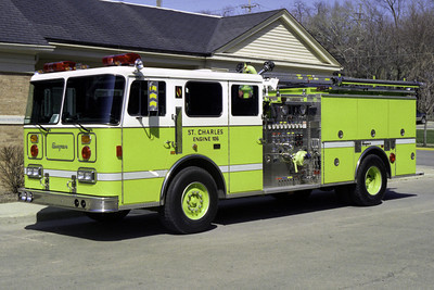 ST CHARLES FD  ENGINE 106  1996 SEAGRAVE 1500-500  BF