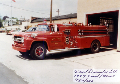 WEST DUNDEE FPD  ENGINE 2  1957  FORD - HOWE   750-500   JDS PHOTO