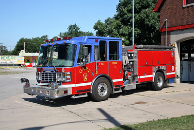 GARY  ENGINE 8   2000 FERRARA INFERNO   2000-500-25F    RUNS OUT OF STATION 9