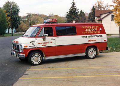 ANTIOCH FIRE DISTRICT  CAR 2195   GMC VANGUARD