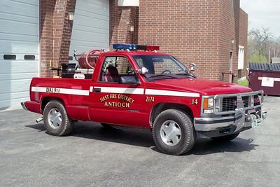 ANTIOCH FIRE DISTRICT  BRUSH 2174  1997  GMC 1500 4X4 - ALEXIS   50-150