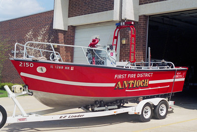 ANTIONCH FIRE DISTRICT  BOAT 2150  1992  RESPONSE MARINE   500 GPM PUMP  21' LONG