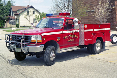 ANTIOCH FIRE DISTRICT  RESCUE 2171  1991  FORD F350 4X4 - MONROE
