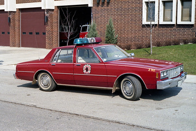 ANTIOCH FIRE DISTRICT  CAR 2190  CHEVY CAPRICE