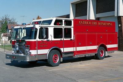 ANTIOCH FIRE DISTRICT  SQUAD 2159  1989  SPARTAN GLADIATOR - 3D   250-200