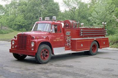 ANTIOCH FIRE DISTRICT  ENGINE 2118  1963  IHC LOADSTAR 2100 - PIRSCH   300-1000