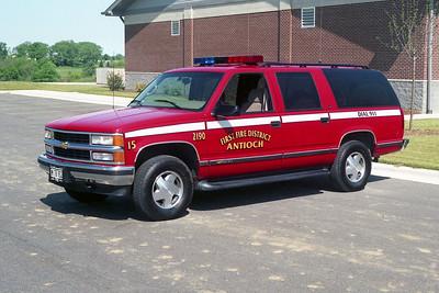 ANTIOCH FIRE DISTRICT  CAR 2190  1990  CHEVY SUBURBAN 1500 4X4
