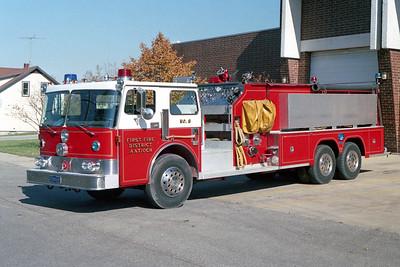 ANTIOCH FIRE DISTRICT  TANKER 2168  1984 PIRCH   1250-2600