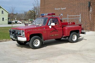 ANTIOCH FIRE DISTRICT  BRUSH 2171  1981  GMC 4X4 - FD BUILT   125-125