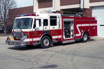 ANTIOCH FIRE DISTRICT  ENGINE 2121  ALF EAGLE - ALEXIS   1250-1000-20A-30B   OPEN PUMP PANEL