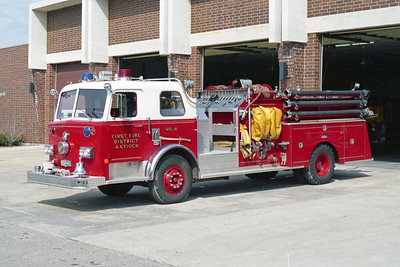 ANTIOCH FIRE DISTRICT  ENGINE 2116  1979  PIRSCH   1000-500    3209