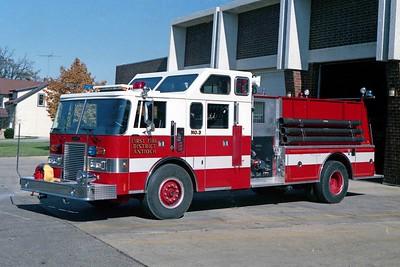 ANTIOCH FIRE DSTRICT  ENGINE 2113  1990  PIERCE LANCE   1250-1250   E-5226   ENCLOSED TOP MOUNT PUMP PANEL