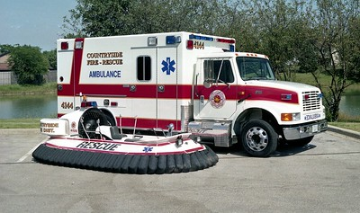 COUNTRYSIDE FPD  AMBULANCE 4144 & HOOVER CRAFT 4159