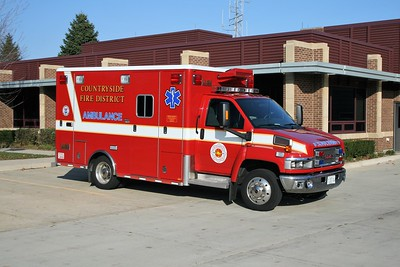 COUNTRYSIDE FPD  AMBULANCE 4112  2008 GMC 4500 - HORTON
