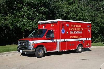DEERFIELD  AMBULANCE 19  2009 FORD E450 - MEDTEC  #9175