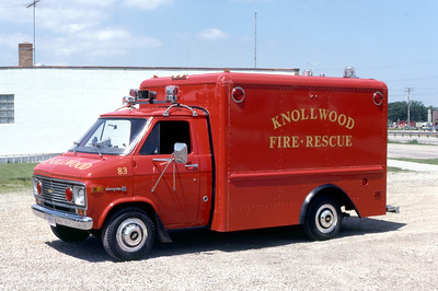 KNOLLWOOD  RESCUE 83  CHEVYVAN