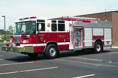LIBERTYBVILLE FD  ENGINE 4613  1998  PIERCE QUANTUM   2000-500-30     EB-594   PUMP PANEL EXPOSED