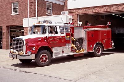LIBERTYVILLE FD  ENGINE 4615  1979  FORD LS9000 - PIERCE   1500-750   # 7426-D