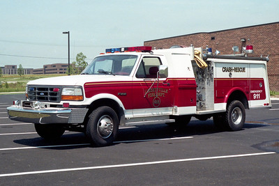 LIBERTYVILLE FD  ENGINE 4612  1993  FORD F250 4X4 - 1977  HAMMERLY   400-250   RECHASSIS