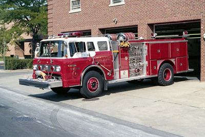 LIBERTYVILLE FD  ENGINE 4611  1981  FORD C - E-ONE   1000-750   #1542