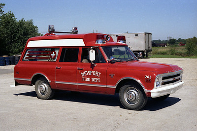 NEWPORT A 1453  1967 CHEVY CARRYALL  FIRST AMBULANCE FOR THE DISTRICT