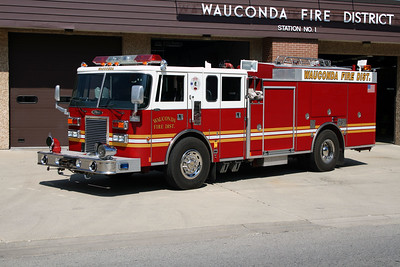 WAUCONDA FD  SQUAD 3421  1992  PIERCE LANCE   2000-500   E-6785  X- ENGINE 3421