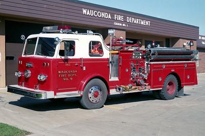 WAUCONDA FD  ENGINE 3412  1965  PIRSCH   1000-500   #2735   REBUILT IN 1978