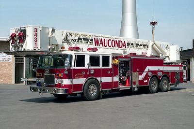 WAUCONDA FD  REUCK 3431  1993  PIERCE ARROW   2000-200-100' PAP   E-7918