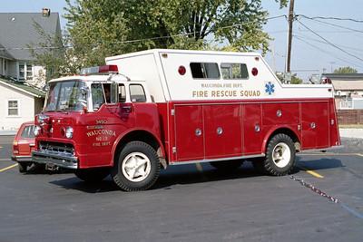 WAUCONDA FD  SQUAD 3450  1971  FORD C - WELCH