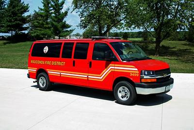 WAUCONDA FD  CAR 3499  2007  CHEVY VAN