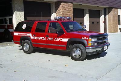 WAUCONDA FD  CAR 3498  1999  CHEVY SUBURBAN 2500 4X4