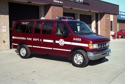 WAUCONDA FD  CAR 3499  1997  FORD ECONOLINE VAN