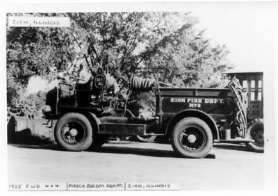 ZION FD  ENGINE 5 1925 FWD-PIRSCH  DAN MARTIN PHOTO