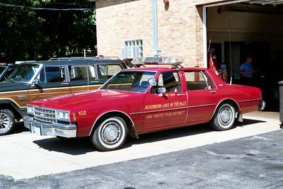 ALGONQUIN  CAR 102  CHEVY IMPALA   FIRE CHIEF